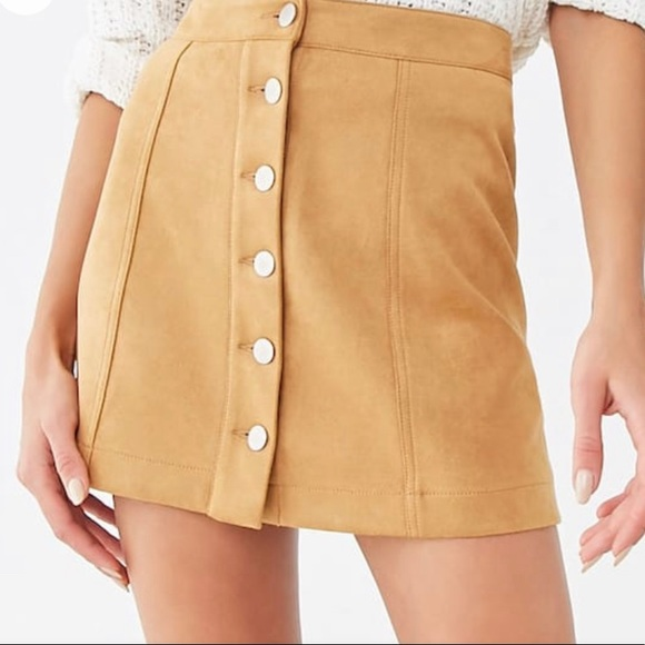 Forever 21 suede mini skirt S